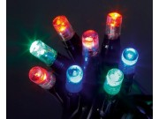Premier Static & Flashing Battery Operated LED Lights MULTI-COLOURED (x35)
